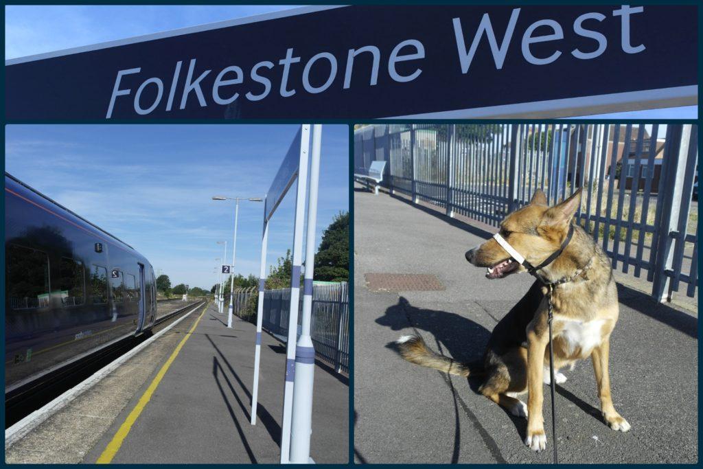 8.38am: Folkestone West station