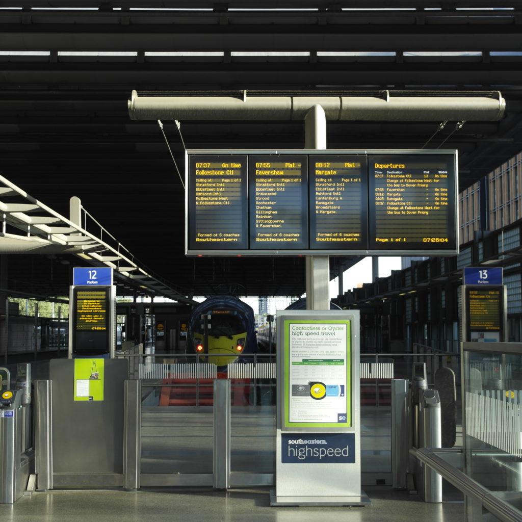 London St. Pancras station. Platform 13.