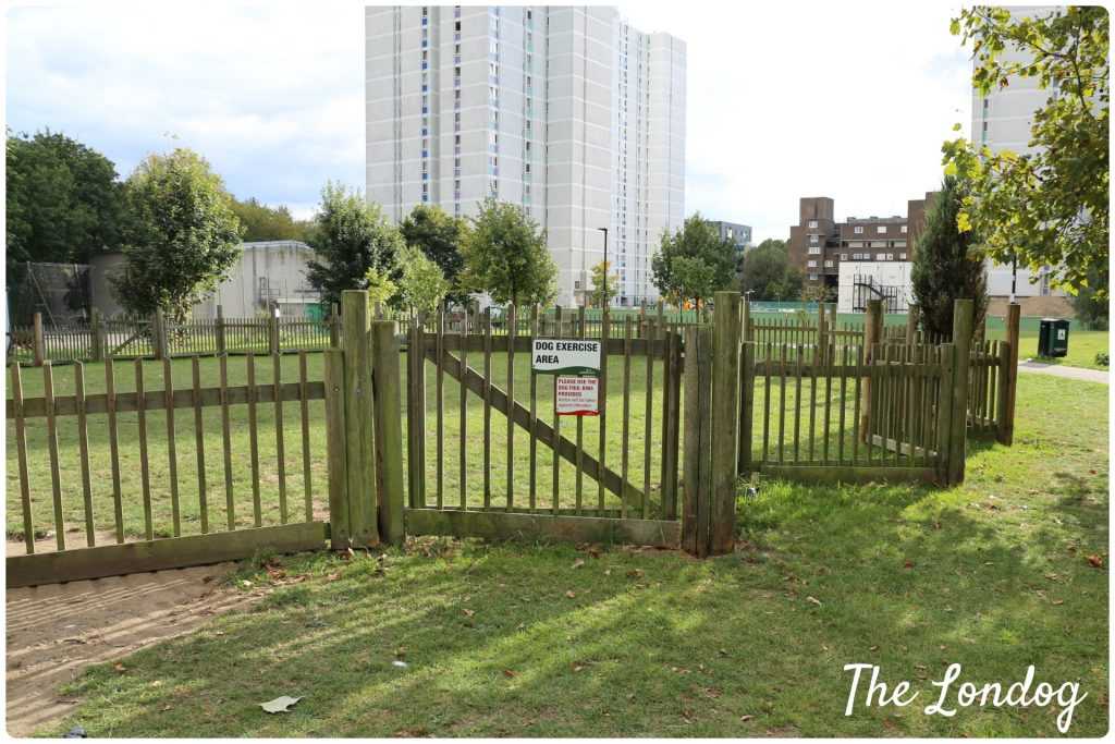 Lambeth Open Space dog park from outside
