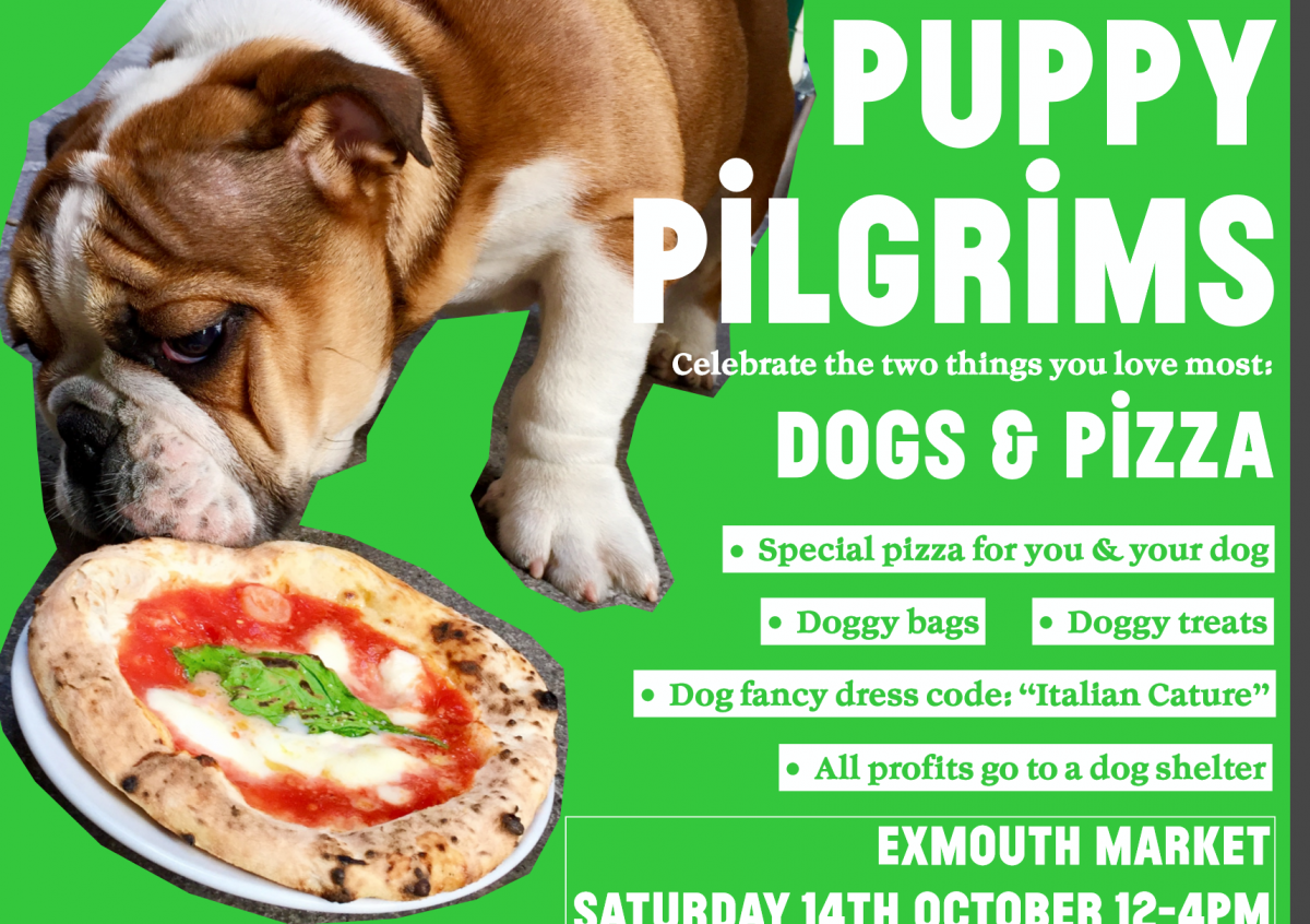 Puppy Pilgrims | Dogs & Pizza event