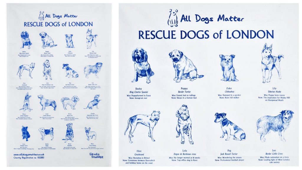 All Dogs Matter tea towel