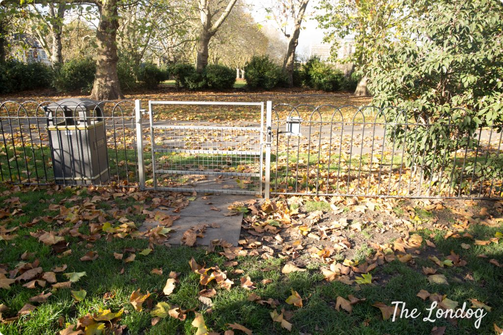 Lillie Road Recreation Ground dog area, fence
