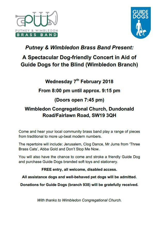 Dog-friendly concert in aid of Guide Dogs for the Blind