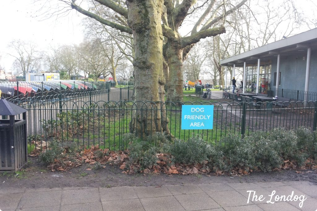 Finsbury Park dog friendly area