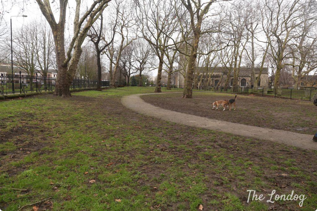 St Dunstan Churchyard dog area