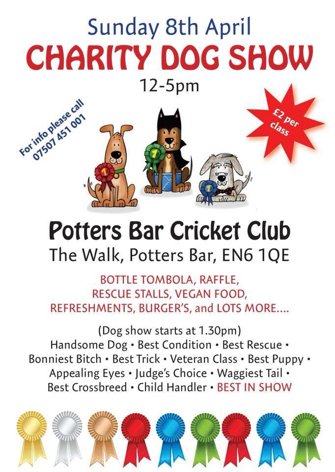 Charity Dog Show and Fete flyer