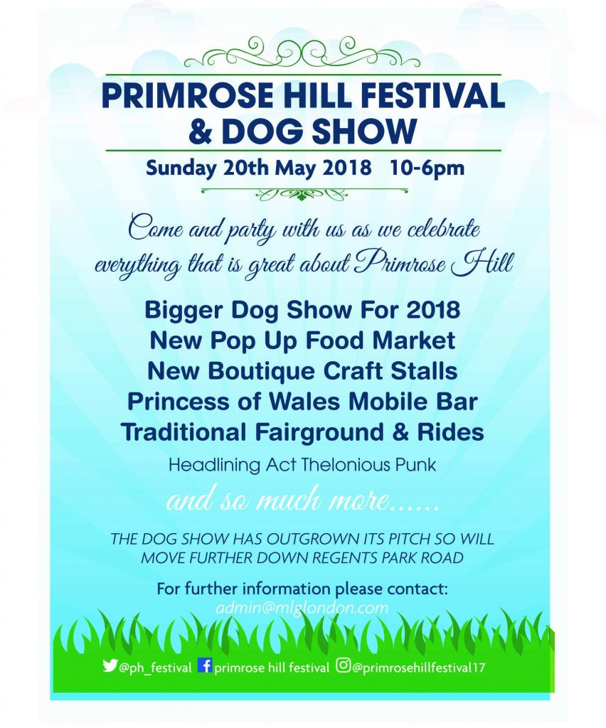 Primrose Hill Festival and Dog Show flyer