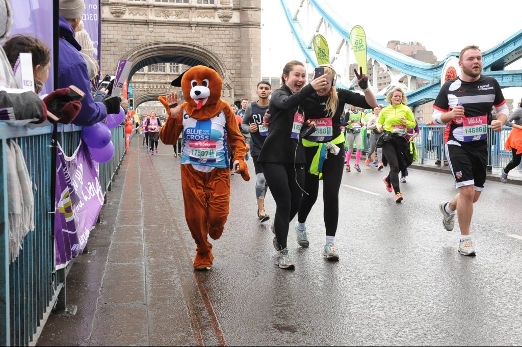 People running for dog charity