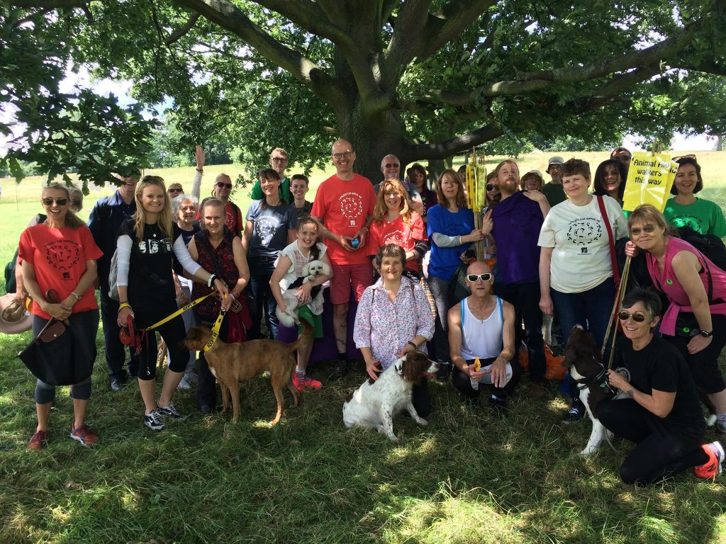 animal aid sponsored walk participants