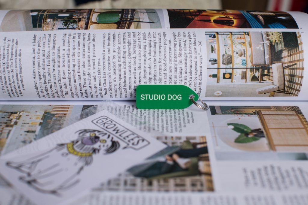 Studio dog growlees dog tag