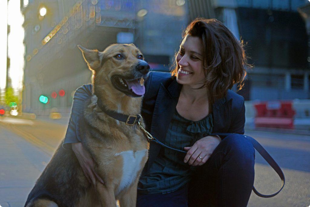 Cristina and Argo the dog of The Londog dog blog