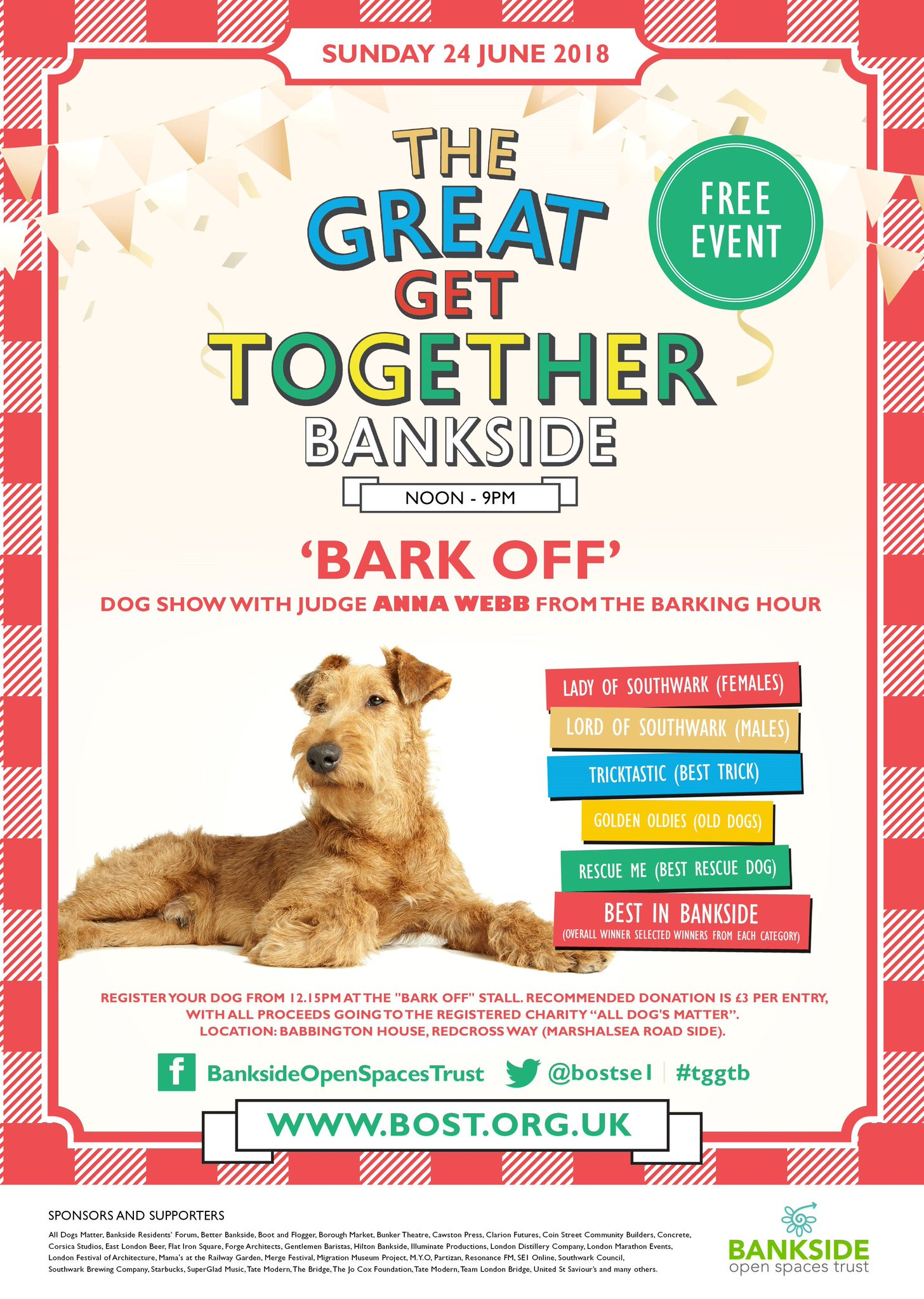 The great get together bankside bark off dog show 2018
