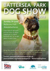 Battersea-Park dog Show 2018 Poster