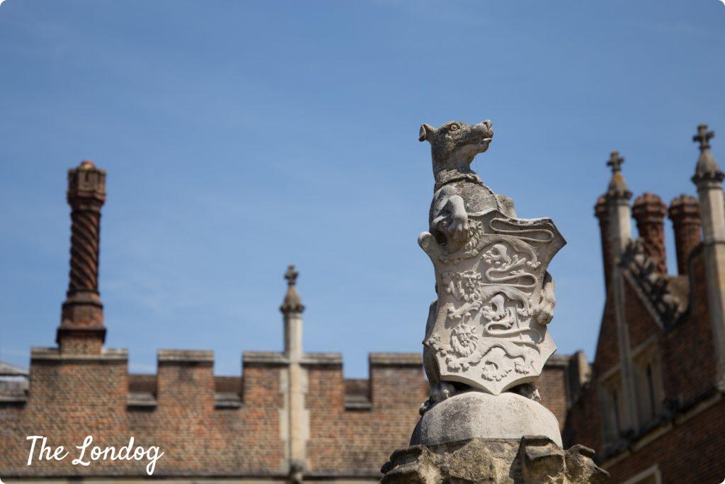 Hamton Court Palace greyhound statue