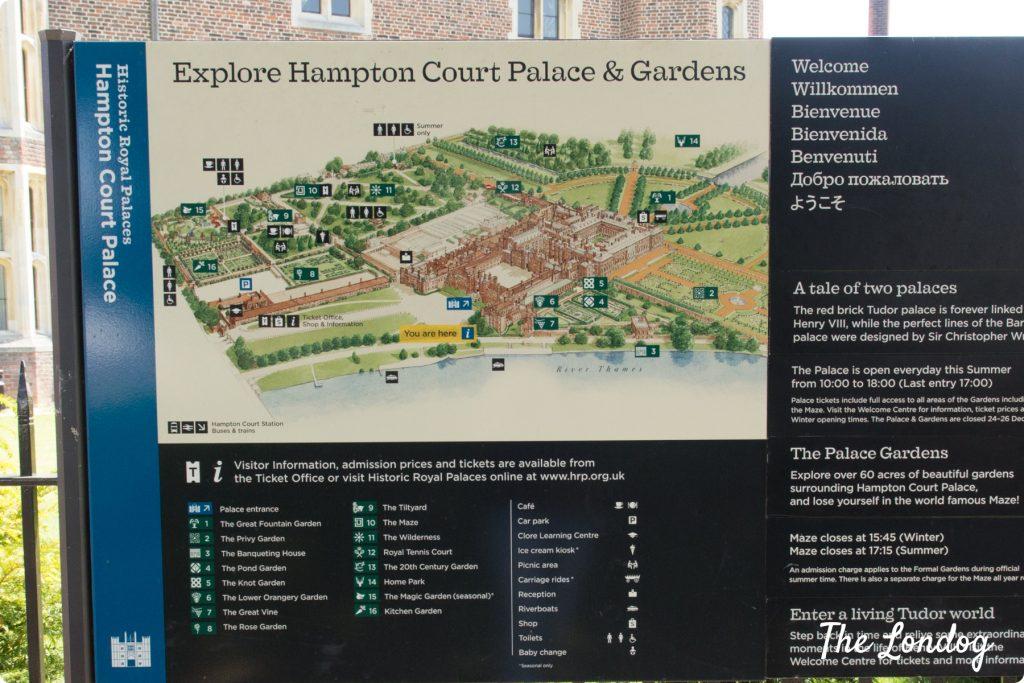 Hampton Court Palace map