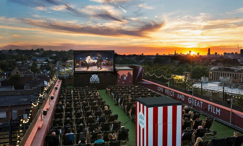 Bussey Building rooftop cinema