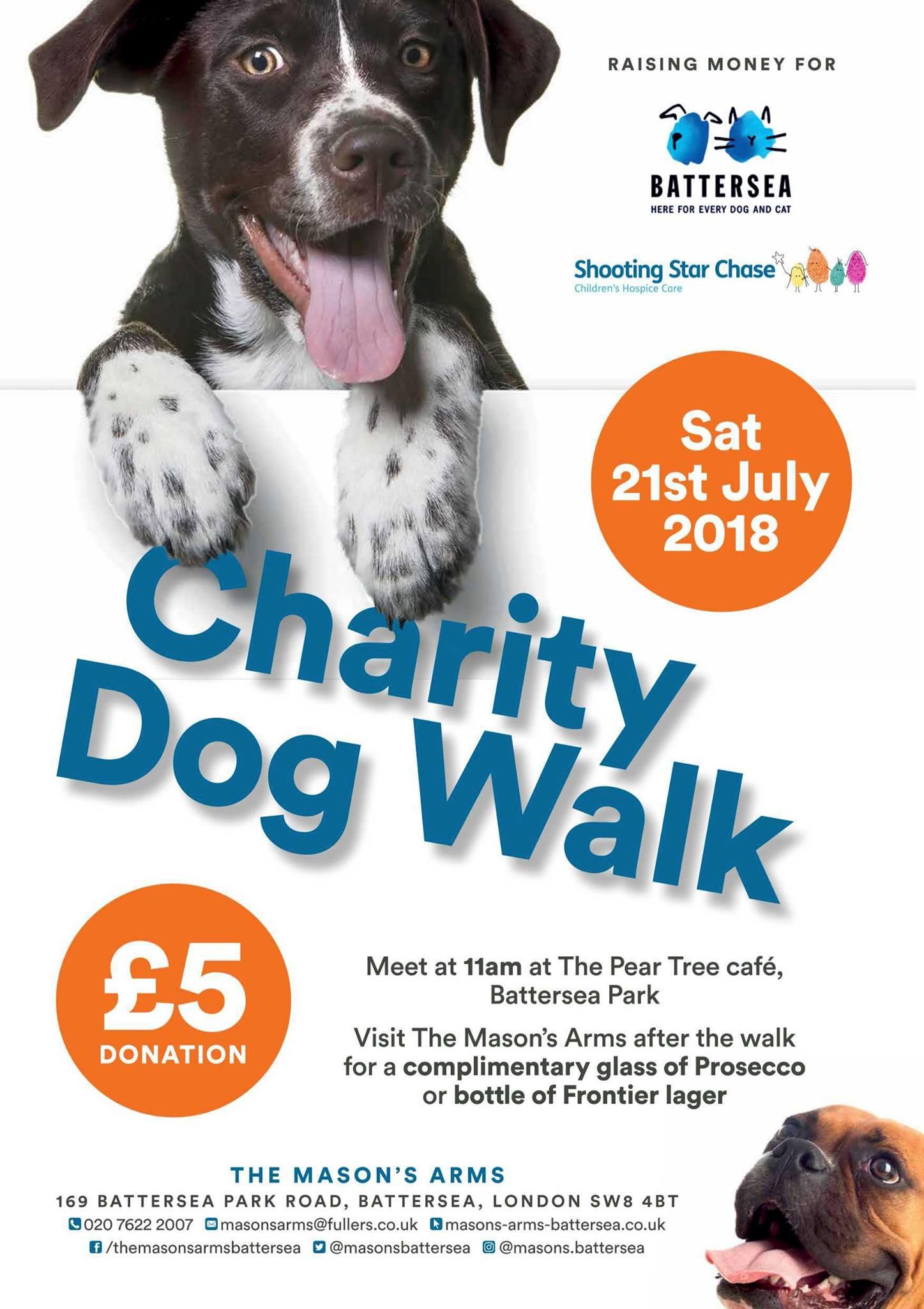 Charity dog walk in Battersea Park