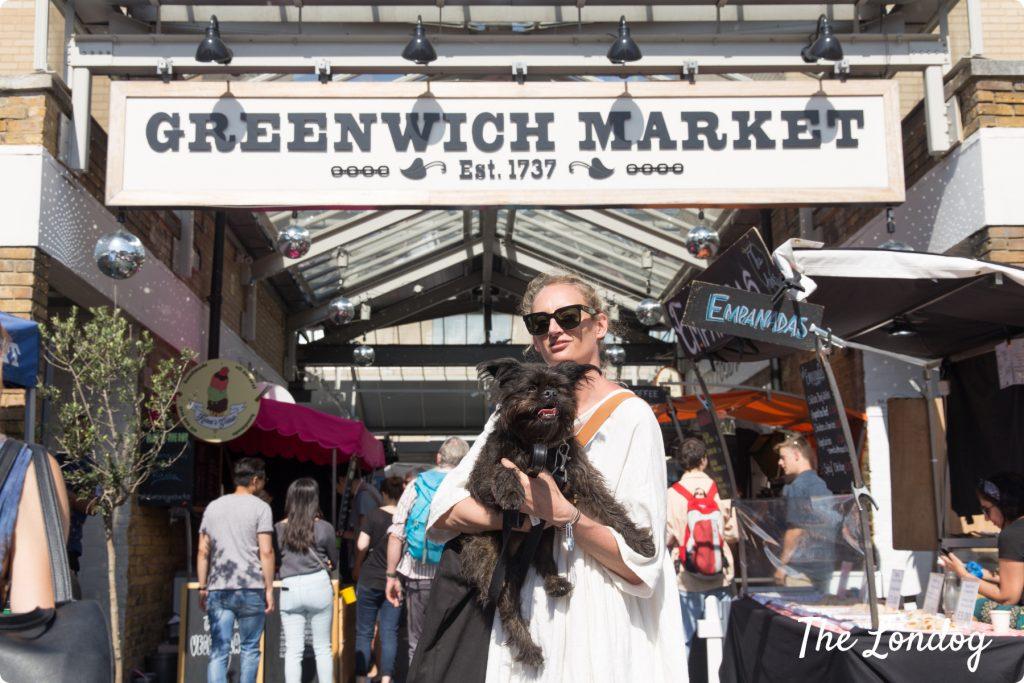 Dog at Greenwich Market
