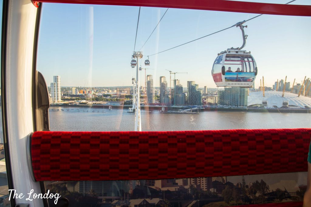 Emirates cable car from above