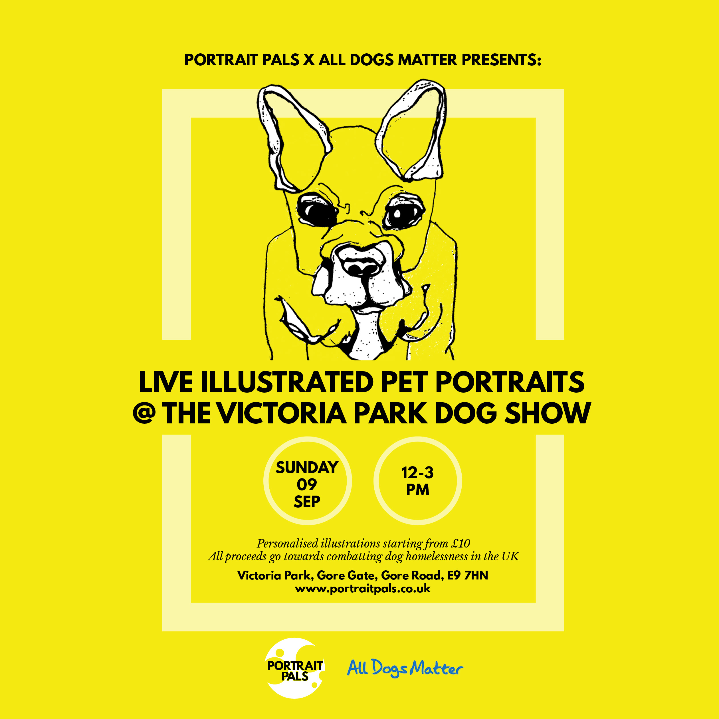 Portrait Pals Flyer square