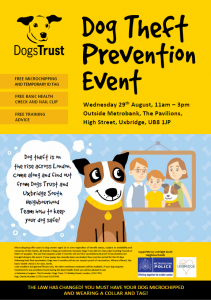 Hillington dog theft prevention event dogs trust