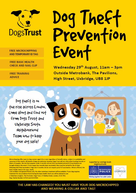 Hillington dog theft prevention event dogs trust