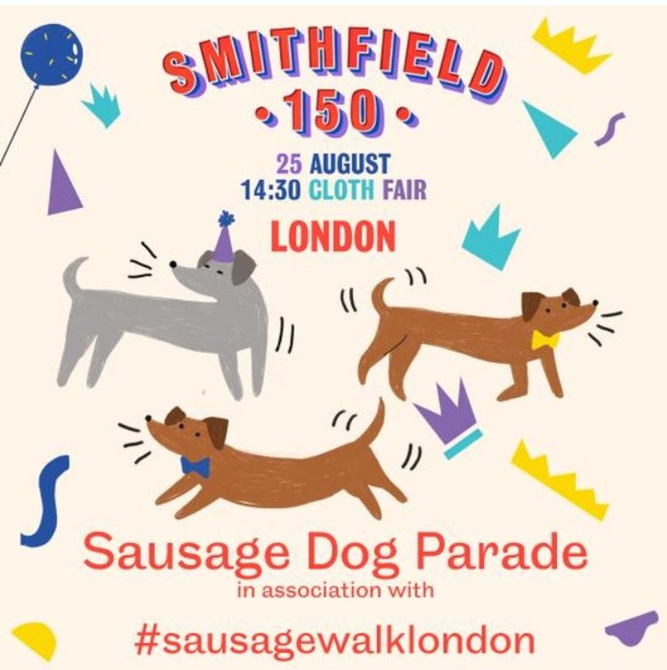 Sausage Dog Parade and Sausage Dog 'Meat Up' at Smithfield