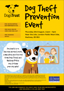 Dog theft prevention event london fields by Dogs Trust