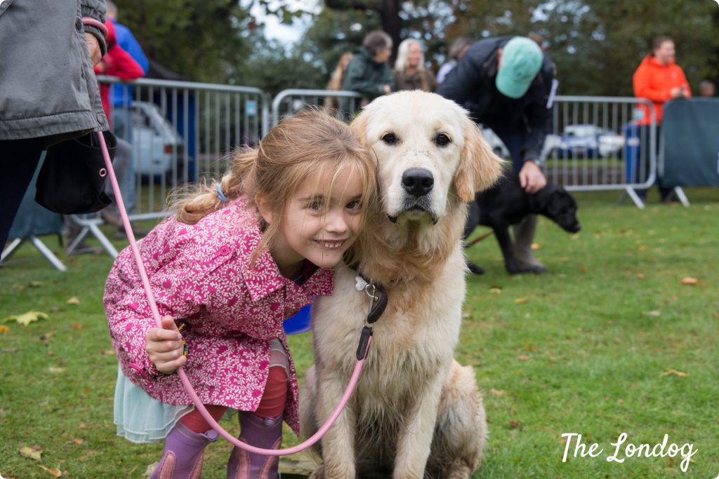 Chiswick house dog show: child and dog