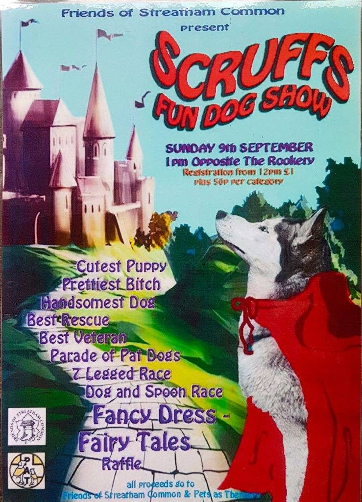 Scruffs fun dog show poster