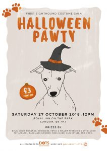Sighthound Costume Gala Halloween Pawty Poster