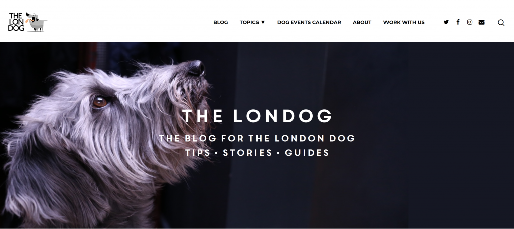 The Londog dog blog new website screenshot