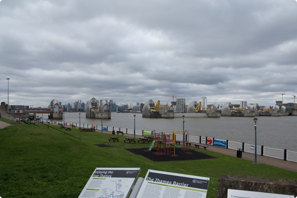 Thames Barrier from View Cafe