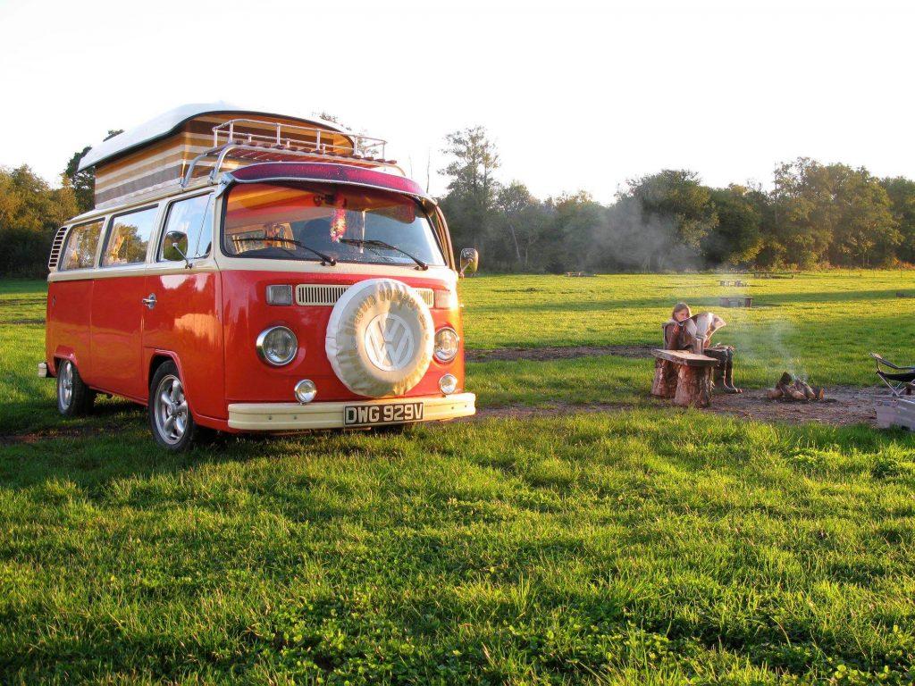 RetroCampervan VW camper on grass