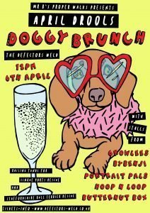 April Drools doggy brunch poster