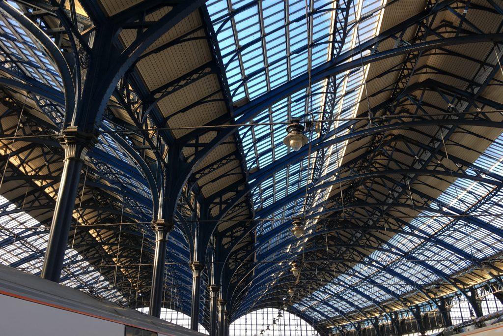 Brighton station roof and windows