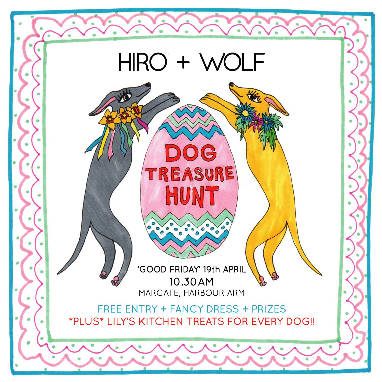 Poster of Hiro and Wolf easter treasure hunt