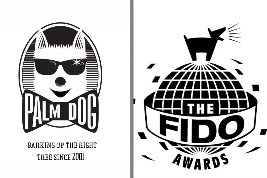 Logos of Palm Dog and Fido Awards