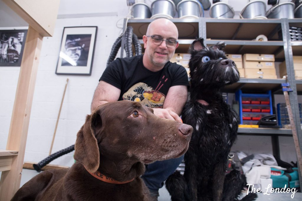 Andy Gent and Charlie the labrador