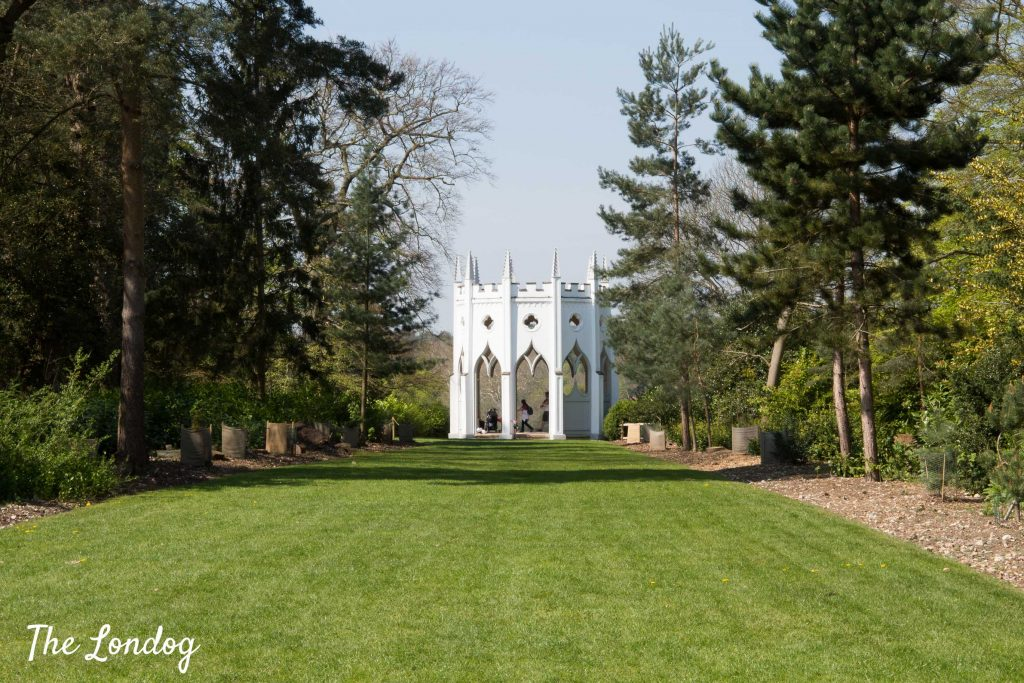 White grotto Gothic Temple at Painshill