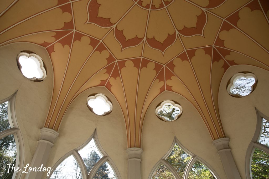 Gothic Temple's ceiling at Painshill