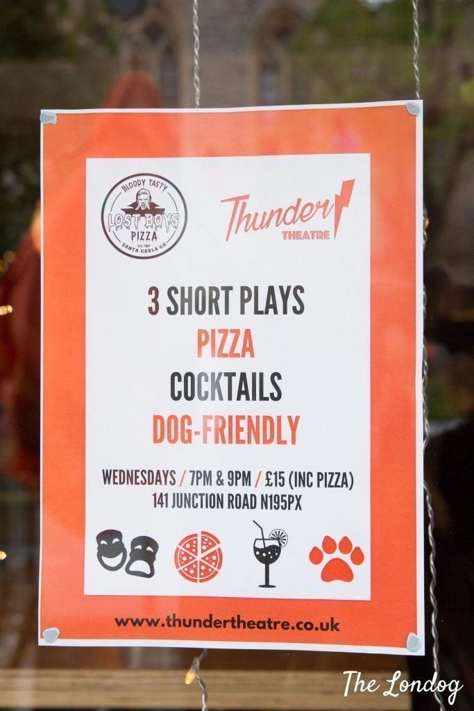 Poster of Thunder Theatre dog-friendly theatre performance