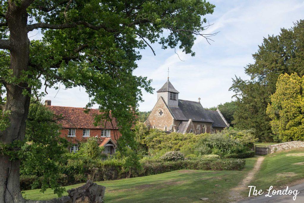 St Peter Hambledon Church landscape