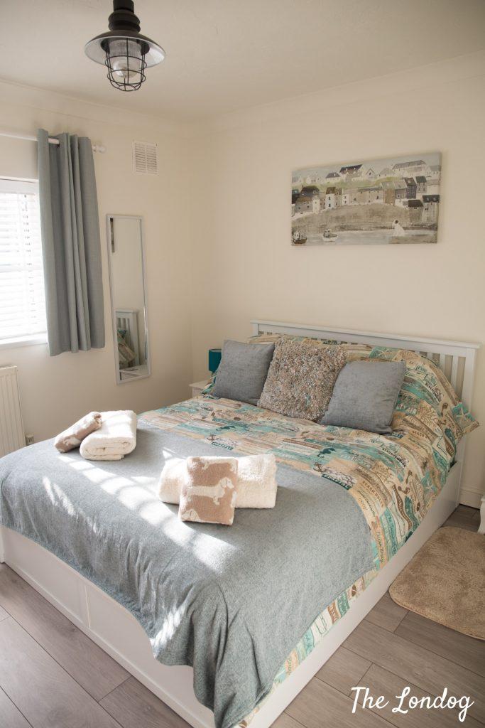 bedroom of The Beach Hut