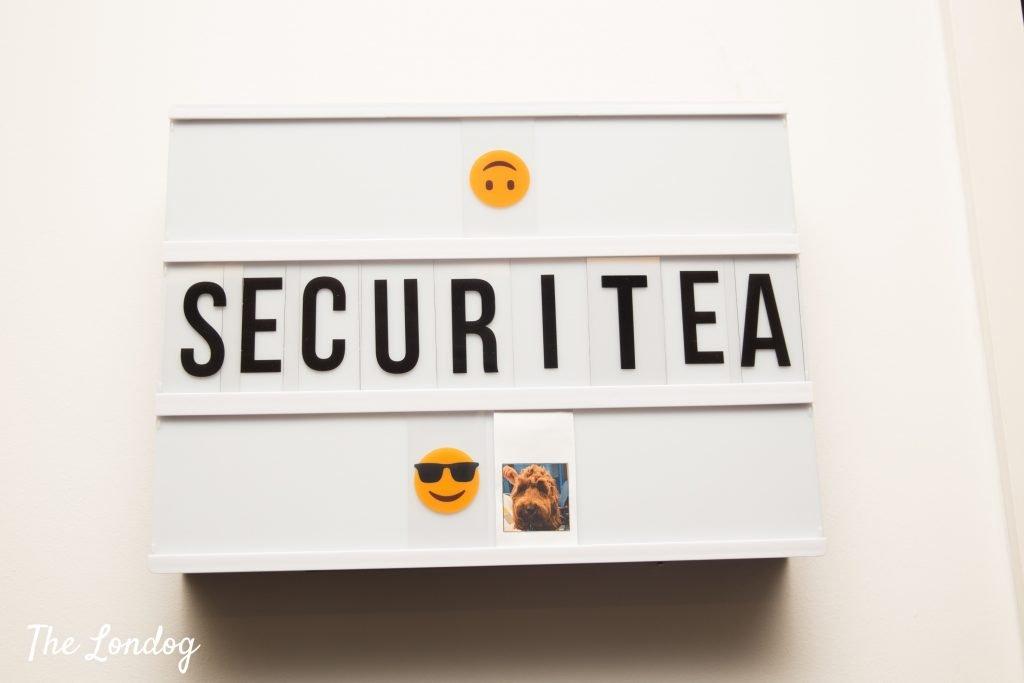 Securi-tea plaque