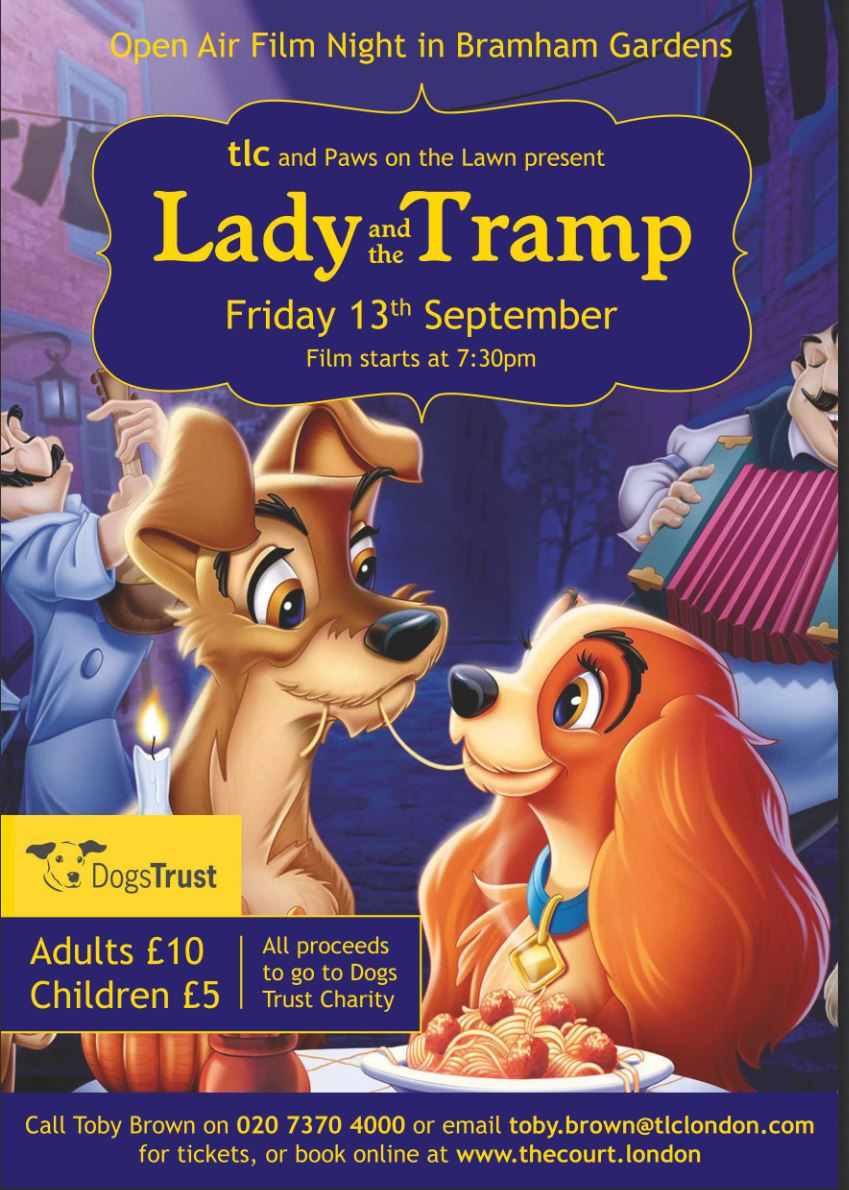 Poster of Lady and the Tramp dog-friendly screening