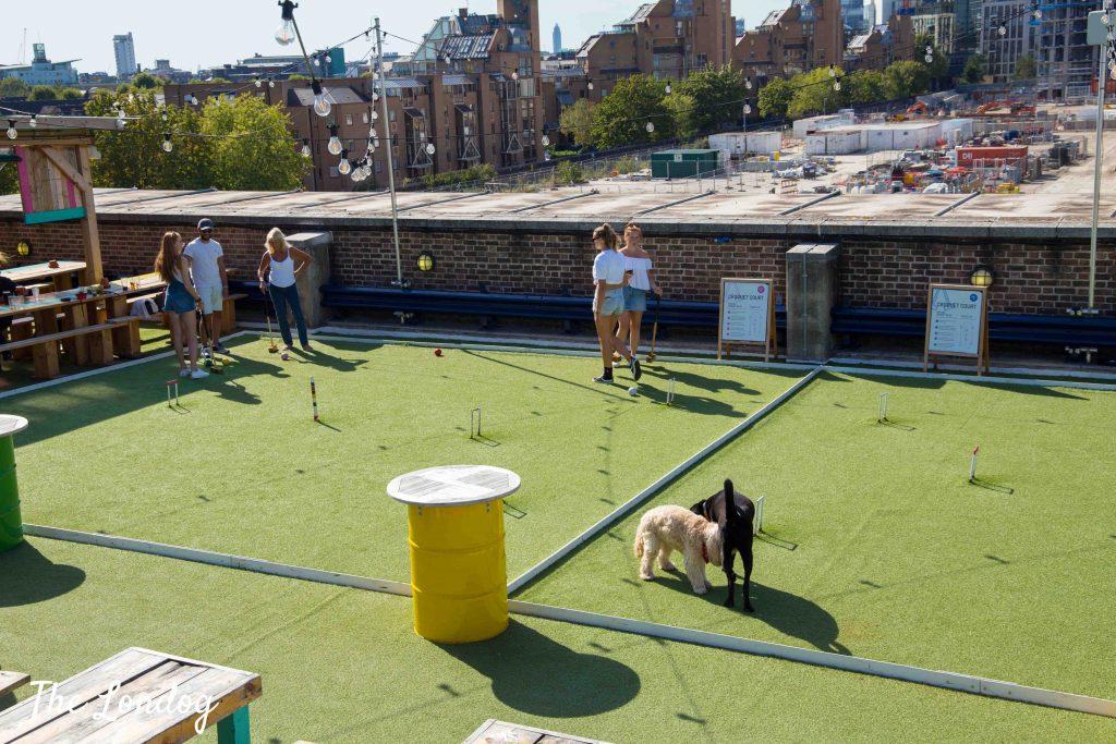 Skylight London croquet court