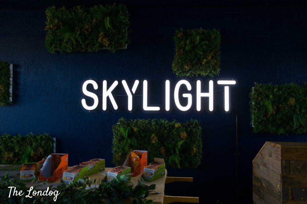 Skylight London neon sign