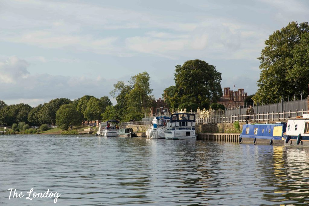 Hampton Court Palace from a boat