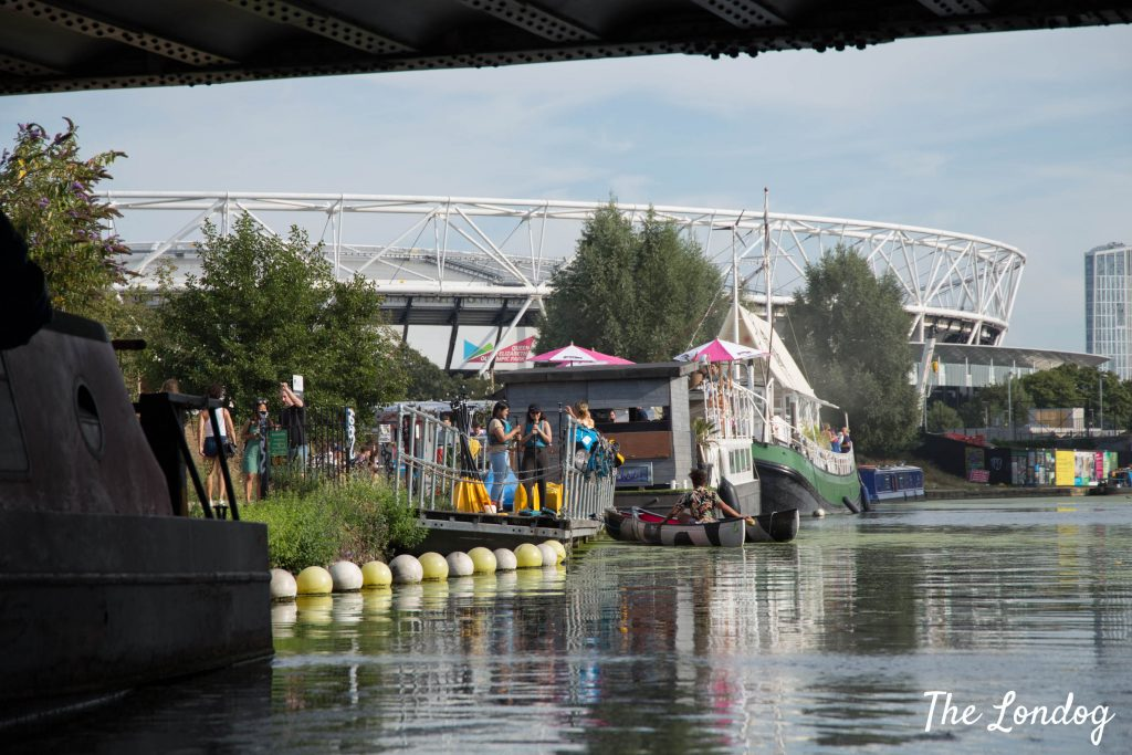 Hackney Wick from the water